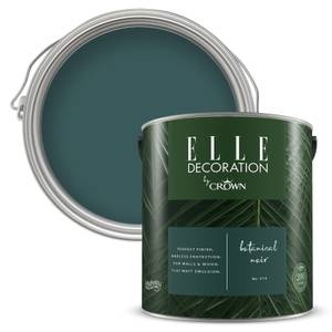 ELLE Decoration by Crown Flat Matt Paint - Botanical Noir 2.5L