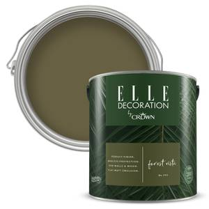 ELLE Decoration by Crown Flat Matt Paint - Forest Vista 2.5L