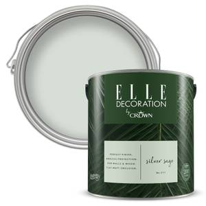 ELLE Decoration by Crown Flat Matt Paint - Silver Sage 2.5L