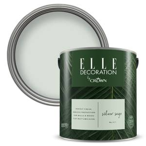 ELLE Decoration by Crown Flat Matt Paint - Silver Sage 2.5L