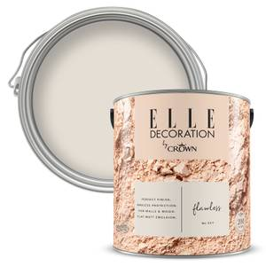 ELLE Decoration by Crown Flat Matt Paint - Flawless 2.5L