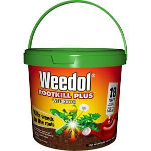 Weedol Rootkill Plus Liquid Concentrate Weedkiller - 18 Tubes