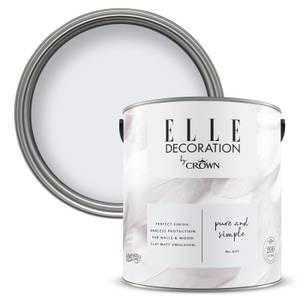 ELLE Decoration by Crown Flat Matt Paint - Pure Simple 2.5L