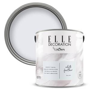 ELLE Decoration by Crown Flat Matt Paint - White Feather 2.5L