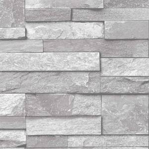 Grandeco Home Inibition Stone Grey Wallpaper