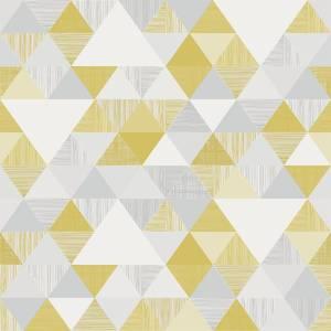Grandecolife Lisette Ochre Wallpaper