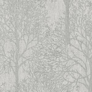 Grandeco Royal House Fabric Tree Grey Wallpaper