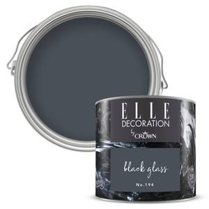 ELLE Decoration by Crown Flat Matt Paint - Black Glass 125ml
