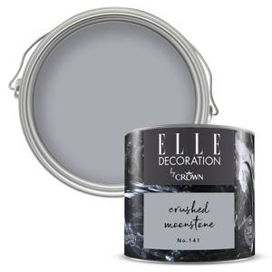 ELLE Decoration by Crown Flat Matt Paint - Crushed Moonstone 125ml