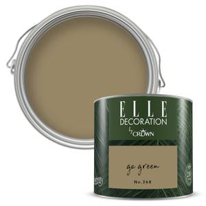 ELLE Decoration by Crown Flat Matt Paint - Go Green 125ml