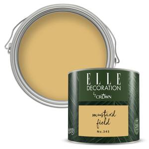 ELLE Decoration by Crown Flat Matt Paint - Mustard Field 125ml
