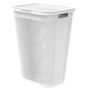 Curver Terrazzo Laundry Hamper 55L - White