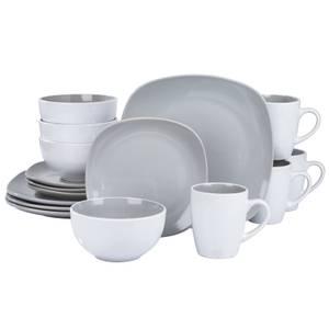 Nova Square 16 Piece Dinner Set - Grey