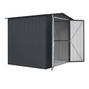 8x6ft Shed Lotus Double Hinged Anthracite Grey
