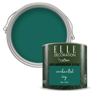 ELLE Decoration by Crown Flat Matt Paint - Enchanted Ivy 125ml