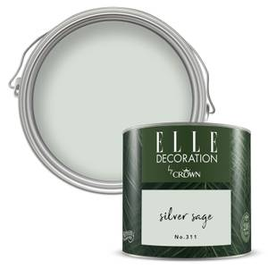 ELLE Decoration by Crown Flat Matt Paint - Silver Sage 125ml