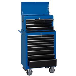 26 Inch Combination Roller Cabinet Chest (15 Drawer)
