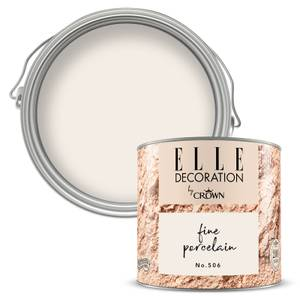 ELLE Decoration by Crown Flat Matt Paint - Fine Porcelain 125ml