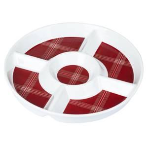Highland Tartan Round Chip & Dip