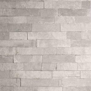 Arthouse Graphite Brick Textured Slate Taupe Wallpaper