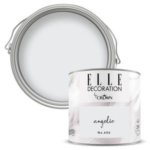 ELLE Decoration by Crown Flat Matt Paint - Angelic 125ml