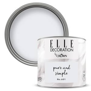 ELLE Decoration by Crown Flat Matt Paint - Pure Simple 125ml