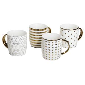 Gold Chrome Mugs - 4 Piece Set