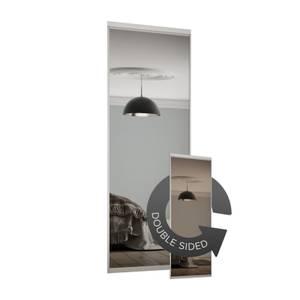 Duo Sliding Wardrobe Door Bronze Mirror / Silver Mirror with Aluminium frame (W)610mm