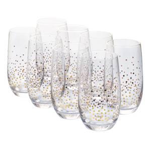 Sparkle Hi-Ball Glasses - Gold - Set of 8