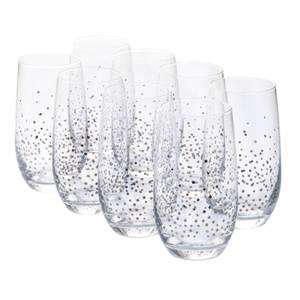 Sparkle Hi-Ball Glasses - Silver - Set of 8