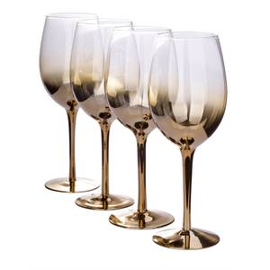 Ombre Wine Glasses - Gold - Set of 4