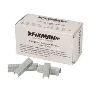 Fixman 10J Galvanised Staples 5000 Pack 11.2 x 12 x 1.17mm