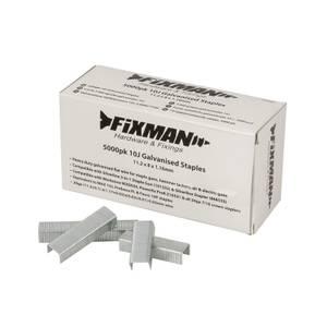 Fixman 10J Galvanised Staples 5000 Pack 11.2 x 8 x 1.17mm