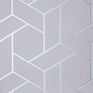 Arthouse Parquet Geometric Smooth Metallic Silver Wallpaper