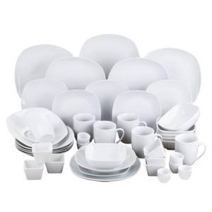 Simply White 42 Piece Square Dinner Set