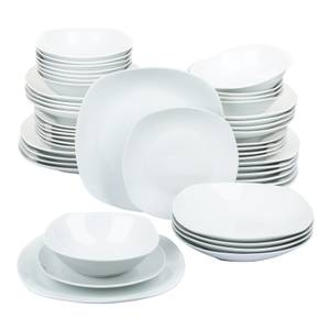 White Square Every Day 48 Piece Dinner Set