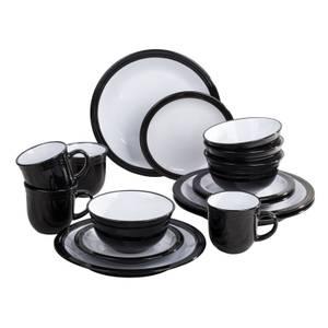 Camden 16 Piece Dinner Set - Black