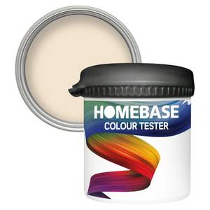 Homebase Matt Colour Paint Tester - Magnolia 90ml