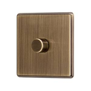 Arlec Fusion 1 Gang 2 Way Antique Brass Dimmer switch