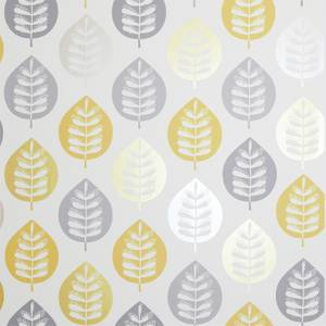 Arthouse Amira Leaf Smooth Metallic Ochre Wallpaper