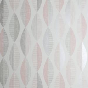 Arthouse Aziza Geometric Smooth Metallic Blush Wallpaper