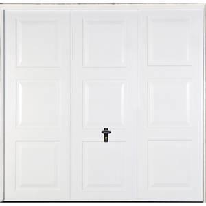 Georgian 7' 6 x 6' 6 Frameless Steel Garage Door White