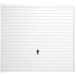 Horizontal 7' x 7' Framed Steel Garage Door White