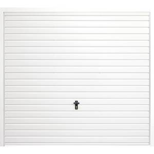 Horizontal 7' x 6' 6 Frameless Steel Garage Door White