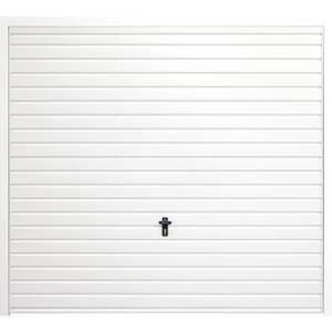 Horizontal 7' x 7' Frameless Steel Garage Door White
