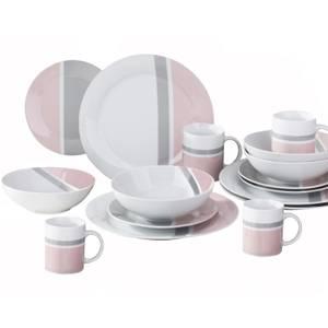 Lulu 16 Piece Dinner Set - Blush Pink & Dove Grey