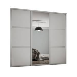 Shaker 3 Door Sliding Wardrobe Kit Cashmere Panel / Mirror (W)1680 x (H)2260mm