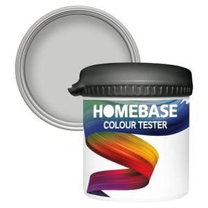 Homebase Matt Colour Paint Tester - Feather Grey 90ml
