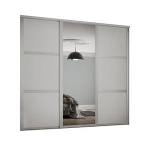 Shaker 3 Door Sliding Wardrobe Kit Cashmere Panel / Mirror (W)2592 x (H)2260mm