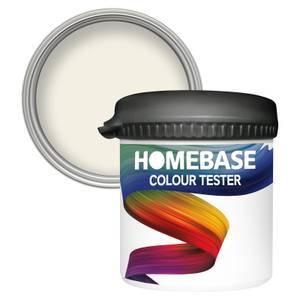 Homebase Matt Colour Paint Tester - White Sands 90ml